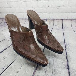 Nine West Rare Western Leather Heels